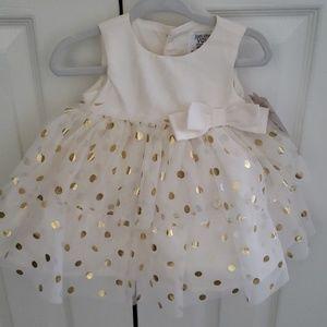 NWT Carter's Baby Girl Polka Dot Dress Size 3 mo.